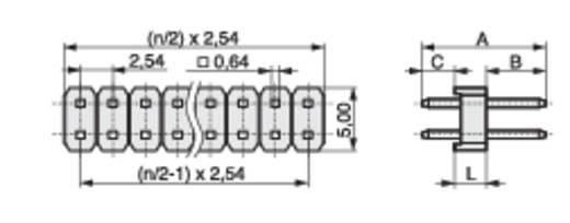 Stiftleiste (Standard) Anzahl Reihen: 2 Polzahl je Reihe: 32 MPE Garry 087-2-064-0-S-XS0-1260 200 St.