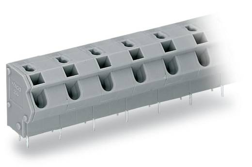 Federkraftklemmblock 1.50 mm² Polzahl 6 254-656 WAGO Grau 80 St.