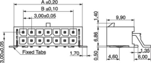 MPE Garry Stiftleiste (Standard) Anzahl Reihen: 2 Polzahl je Reihe: 3 437-4-006-0-T-KS0 160 St.