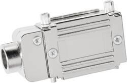 Image of D-SUB Adaptergehäuse Polzahl: 15 Kunststoff, metallisiert 90 ° Silber Provertha 77152M 1 St.