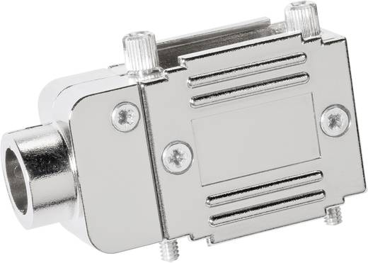 D-SUB Adaptergehäuse Polzahl: 15 Kunststoff, metallisiert 90 °, 90 ° Silber Provertha 77151M 1 St.