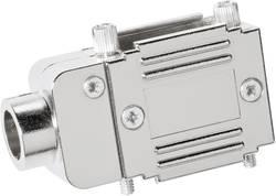 Image of D-SUB Adaptergehäuse Polzahl: 15 Kunststoff, metallisiert 90 °, 90 ° Silber Provertha 77151M 1 St.