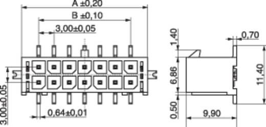Stiftleiste (Standard) Anzahl Reihen: 2 Polzahl je Reihe: 2 MPE Garry 437-2-004-0-T-KS0 240 St.