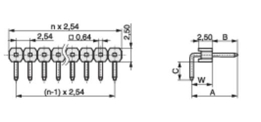 Stiftleiste (Standard) Anzahl Reihen: 1 Polzahl je Reihe: 36 MPE Garry 088-1-036-0-S-XS0-1080 300 St.