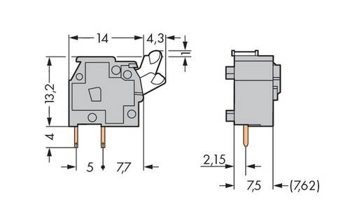 Federkraftklemmblock 2.50 mm² Polzahl 1 255-501 WAGO Grau 400 St.