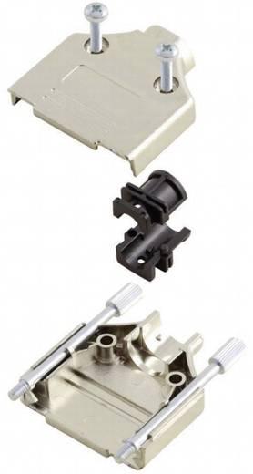 D-SUB Gehäuse Polzahl: 9 Kunststoff, metallisiert 180 ° Silber MH Connectors MHDTPK-9-K 1 St.