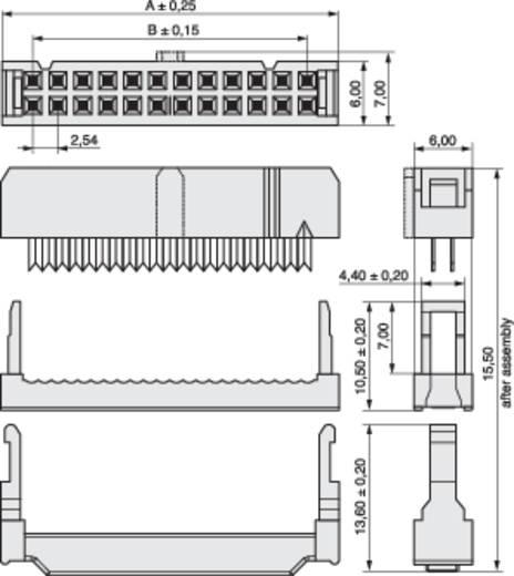 Buchsenleiste mit Zugentlastung Rastermaß: 2.54 mm Polzahl Gesamt: 10 MPE Garry 540 St.