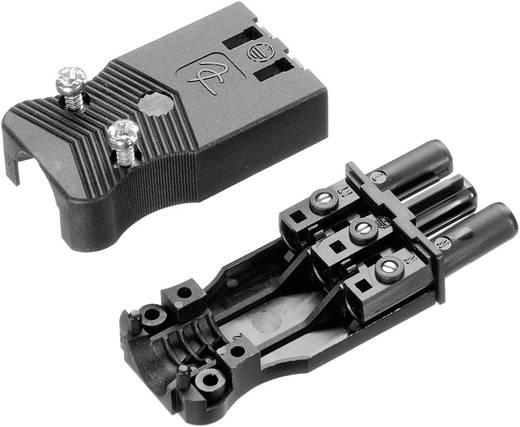 Netz-Steckverbinder AC Serie (Netzsteckverbinder) AC Buchse, gerade Gesamtpolzahl: 2 + PE 16 A Schwarz Adels-Contact AC