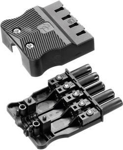 Síťová zásuvka Adels Contact AC 166 GBUF/525, 400 V, 16 A, černá, 165665V9