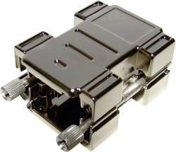 Image of D-SUB Adaptergehäuse Polzahl: 15 Kunststoff, metallisiert 180 ° Silber Provertha 87154M001 1 St.