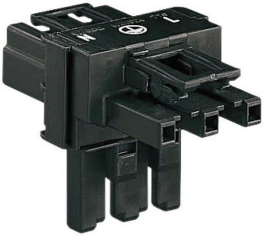 Netz-T-Verteiler Netz-Stecker - Netz-Buchse, Netz-Buchse Gesamtpolzahl: 2 + PE Schwarz WAGO 1 St.