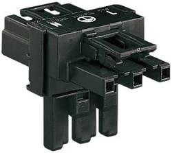Síťový T konektor 3pól. WAGO 770-606, adaptér úhlový, černá