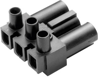 Connettore di alimentazione AC Serie: AC Poli totale: 2 + PE 16 A Nero Adels-Contact AC 166 GST/ 3 1 pz. Spina angolata