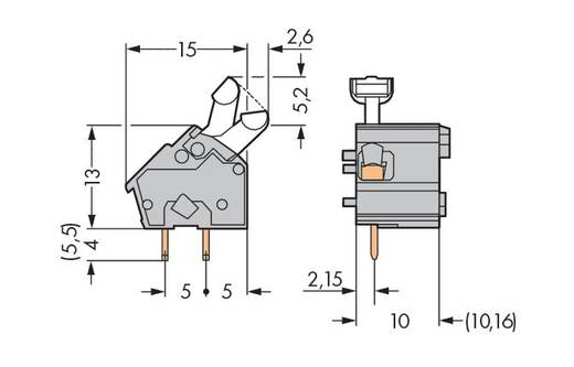 Federkraftklemmblock 2.50 mm² Polzahl 1 256-764 WAGO Blau 300 St.