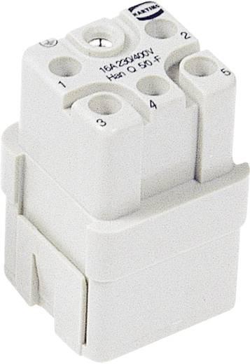 Buchseneinsatz Han® Q 09 12 005 3101 Harting 5 + PE Crimpen 1 St.