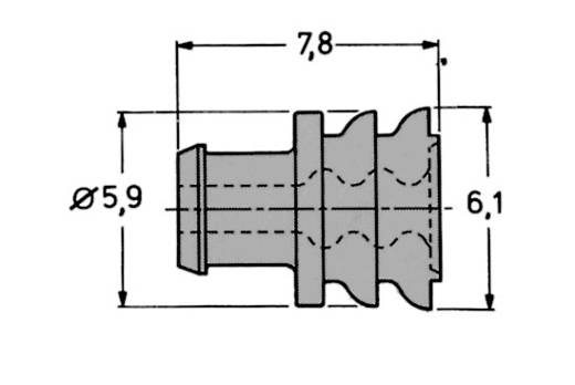 Dichtungen und Blindstopfen für AMP Superseal IP67, 1 - 6 polig AMP-Superseal TE Connectivity Inhalt: 1 St.