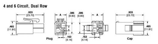 TE Connectivity 172167-1 Stiftgehäuse-Kabel Universal-MATE-N-LOK Polzahl Gesamt 4 Rastermaß: 4.14 mm 1 St.
