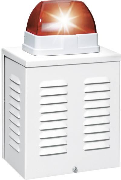 Sirena con lampeggiante 110 dB Rosso Ambiente interno, Ambiente esterno 12 V/DC ABUS SG1650