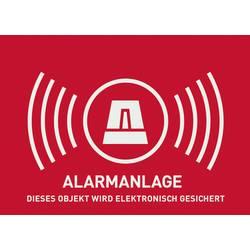 """Nálepka """"Zabezpečeno alarmem"""" ABUS AU1323, německy, 74 x 53 mm"""