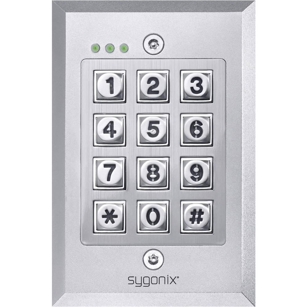 sygonix 43944r codeschloss unterputz ip66 mit beleuchteter tastatur