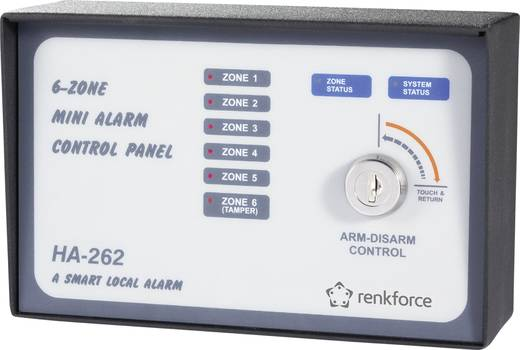 Alarmzentrale Renkforce HA-262 752181 Alarmzonen 6x Drahtgebunden, 1x Sabotagezone