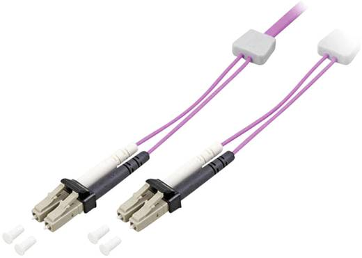 Glasfaser LWL Anschlusskabel mit LED [1x LC-Stecker - 1x LC-Stecker] 50/125µ Multimode OM4 10 m EFB Elektronik