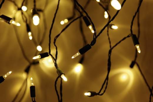 Mini-Lichterkette Innen netzbetrieben 50 LED Warm-Weiß Beleuchtete Länge: 7.35 m Polarlite 752492