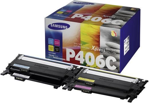 Samsung Toner Kombi-Pack P406C CLT-P406C/ELS Original Schwarz, Cyan, Magenta, Gelb 1500 Seiten