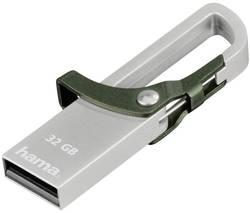 Image of Hama FlashPen Hook-Style USB-Stick 32 GB Grün 123921 USB 2.0