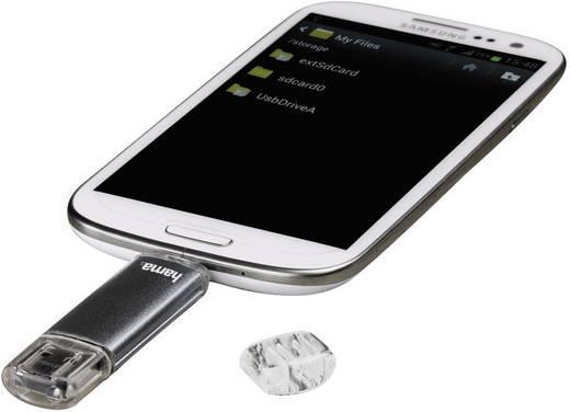 "USB-Zusatzspeicher Smartphone/Tablet Hama FlashPen ""Laeta Twin"" Grau 32 GB USB 2.0, Micro USB 2.0"