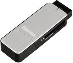 Externí čtečka paměťových karet Hama 123900 123900, USB 3.0, stříbrná