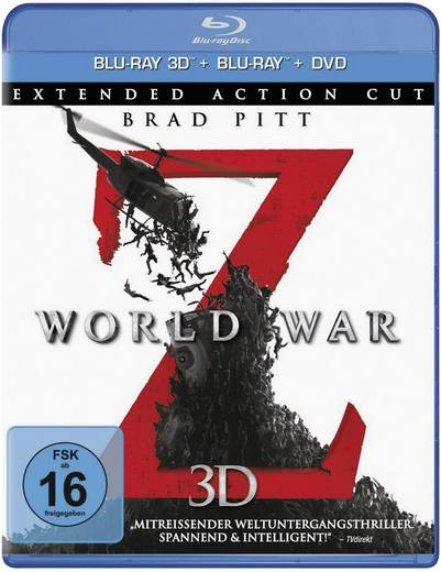 blu-ray 3D World War Z - Extended Action Cut FSK: 16