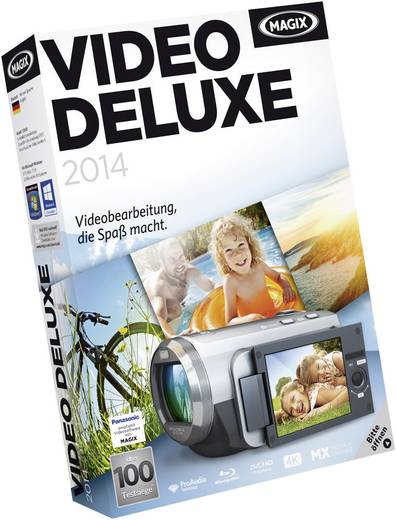 Magix Video deluxe 2014 Vollversion, 1 Lizenz Windows Videobearbeitung
