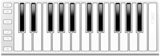MIDI-Keyboard CMW Xkey Silber