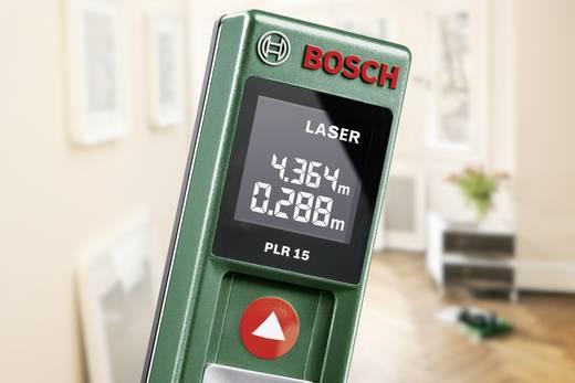 Bosch Home and Garden PLR 15 Laser-Entfernungsmesser Kalibriert nach ISO Messbereich (max.) 15 m
