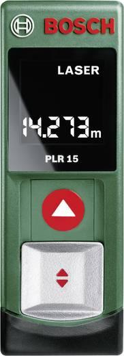 Bosch Home and Garden PLR 15 Laser-Entfernungsmesser inkl. berührungslosem Spannungsprüfer Messbereich (max.) 15 m Kalib