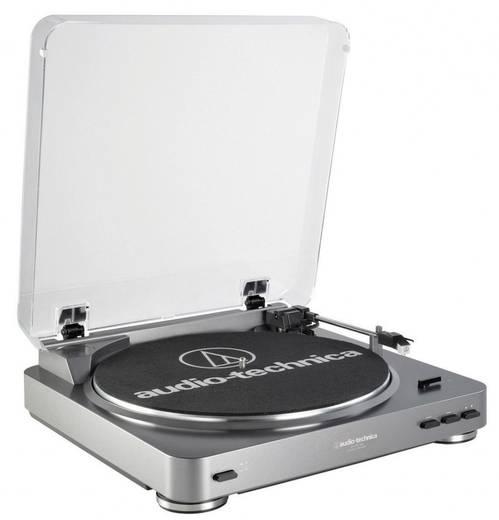 USB-Plattenspieler Audio Technica LP-60 USB Riemenantrieb Silber