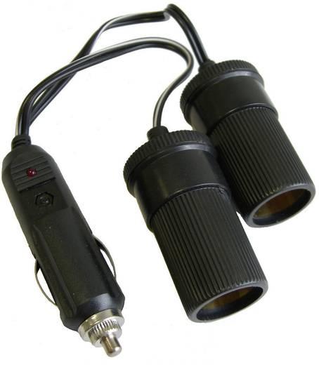 HP Autozubehör 2fach Verteiler Belastbarkeit Strom max.=10 A Passend für (Details) 12 V Zigarettenanzünder