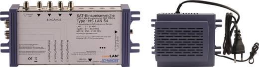 Schwaiger MSLAN54211 SAT-Quad-Einschleuseweiche 5 auf 4 mit LAN Funktion, aktiv