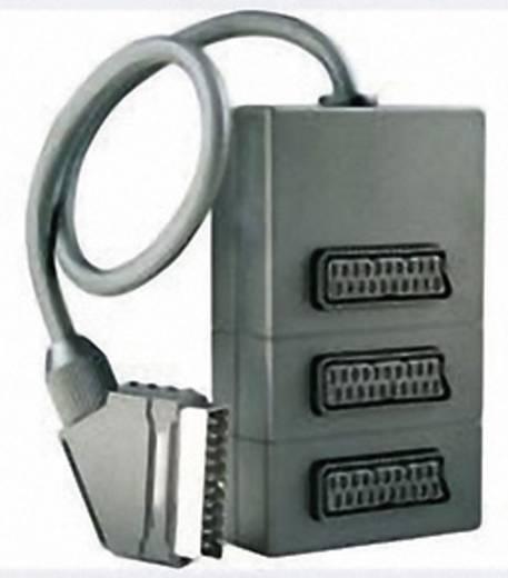 SCART 3-fach Verteiler [1x SCART-Stecker - 3x SCART-Buchse] 0.30 m Schwarz Schwaiger