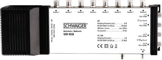 SAT Multischalter Schwaiger SEW4058 Eingänge (Multischalter): 5 (4 SAT/1 terrestrisch) Teilnehmer-Anzahl: 8