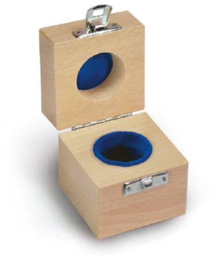 Kern Holzetui passend für Einzelgewicht 1 x 200 g E1 + E2 + F1, gepolstert