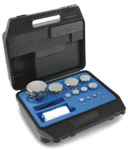 Kern F1 Gewichtsatz Kompaktform, 1 g - 2 kg Edelstahl, im Kunststoffkoffer