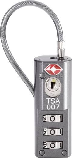 Kabelschloss 19 mm TSA TSA LKOT-0936 Grau Zahlenschloss