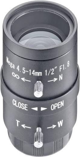 Überwachungskamera-Objektiv Brennweite 4,5 - 14 mm Blickwinkel 62 - 22 ° Sygonix 43191R