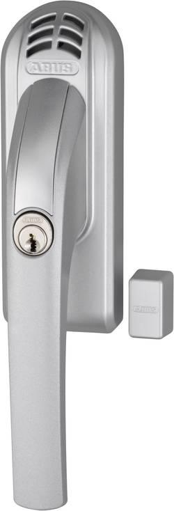 Uzamykatelná okenní klika s alarmem Abus, ABFG68176, levá, 110 dB A, stříbrná