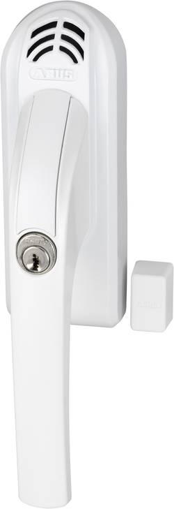 Uzamykatelná okenní klika s alarmem Abus, ABFG68077, levá, 110 dB A, bílá