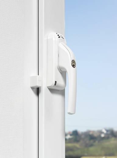 Fenstergriff mit Alarm Weiß 110 dB ABUS DIN höger ABFG68022