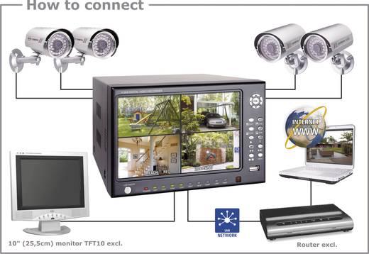 Überwachungs-Set ELRO 4-Kanal mit 4 Kameras 250 GB DVR74S