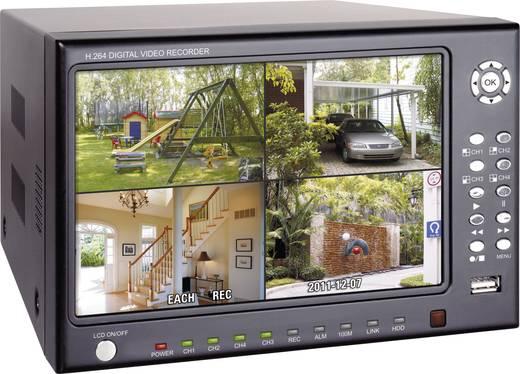 ELRO Analog Videoüberwachungs-Set 4-Kanal mit 4 Kameras 250 GB DVR74S